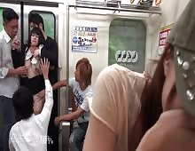 Desperate Japanese Girl Molested And Raped In Public Train