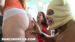 DANCING BEAR – This Bachelorette Loft Party Is Off The Muthafuckin' Chain!