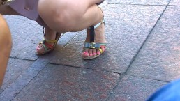 Sexy Feet In Sandals Red Toes