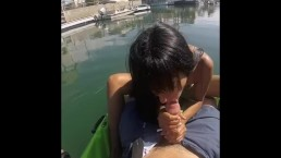 Public POV Blowjob In Kayak He Cums Too Early