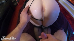 Real Dirty Amateur Wife With Big Tits Doing Lube Farting Sloppy Anal – MILF